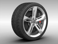 audi rs7 wheel rim 3d 3ds