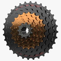 3d model speed mountain bike cassettes