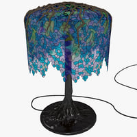 3d model tiffany desk lamp