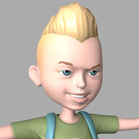boy cartoon 3d obj