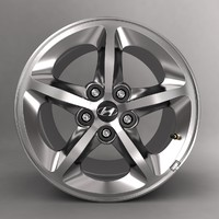 3d hyundai car alloy logo model