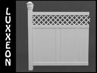 free modular vinyl fence panel 3d model