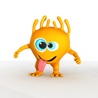 funny toon character 3d model