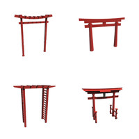 3d model torii gates