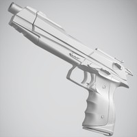 pistol weapon subdivision 3d max