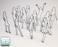 c4d silhouette people