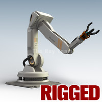 industrial robotic arm rigged 3d ma