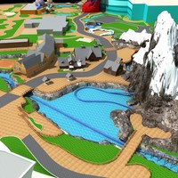 3d amusement park model