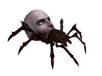 3d model of scary badass spider