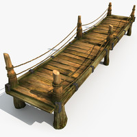 wood wooden bridge max
