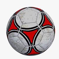 dirty soccer ball 3d model