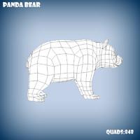 3d base mesh panda bear