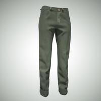 3d obj green jeans