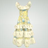3d woman dress
