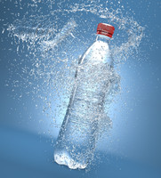bottle splash 3d max