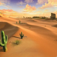 Cartoon Desert Scene