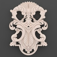 3d ornament decor wall model