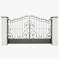 wrought iron gate 3d obj
