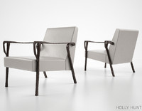 holly hunt dublin lounge chair 3d fbx