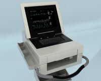 ekg machine 3d model
