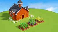 plants happy fields 3d max