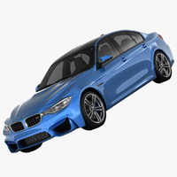 bmw m3 sedan car interior 3d max