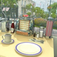 50 s diner 3d model