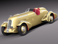 3d model of duesenberg special sj