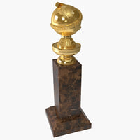 golden globe trophy 3d model