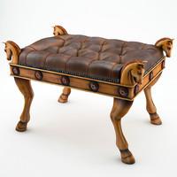 3d model horse pouf
