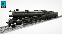3ds max steam locomotive lk 01