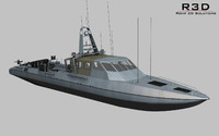 mark v boat operational 3d model