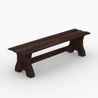 ready bench medieval 3d 3ds
