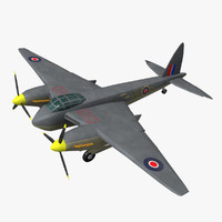 havilland mosquito aircraft 3ds