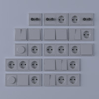 3d model light switches
