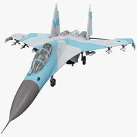 3d russian fighter aircraft sukhoi
