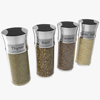 3d spice bottles set 4