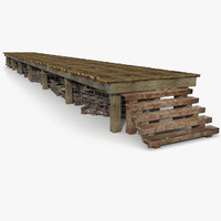 Wooden WareHouse Pier construction dock port harbor marina ship boat lake bridge shore bay wharf stage jetty pontoon wood gangplank