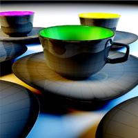 capuccino mugs set 3ds