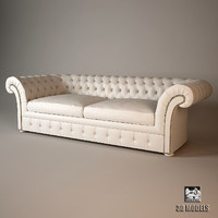 baxter casper sofa 3d model