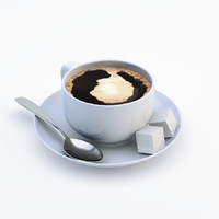 realistic cup coffee 3d model