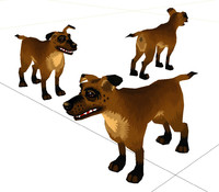 3d low-poly cartoon style dog
