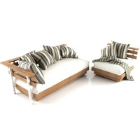 3ds max mudo outdoor sofa set