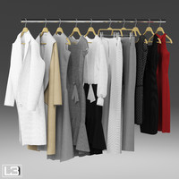 Clothes on Hangers 01
