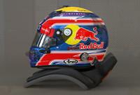 Mark Webber 2013 style motorsport helmet
