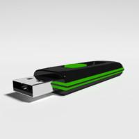 3d model flash drive