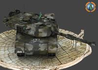 m1a2 abram tank 3d model