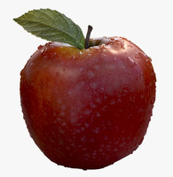 3ds max red apple