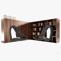 cinema4d bookcase book case