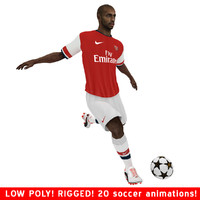 3d thierry henry arsenal ball soccer